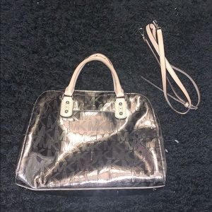 Michael Kors Mirror Metallic Silver Bag